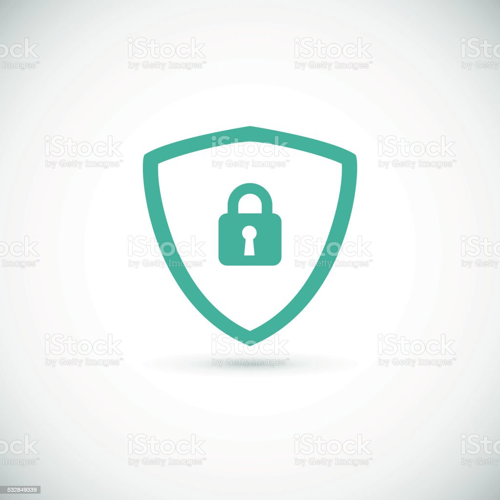 Web security icon shield. vector art illustration