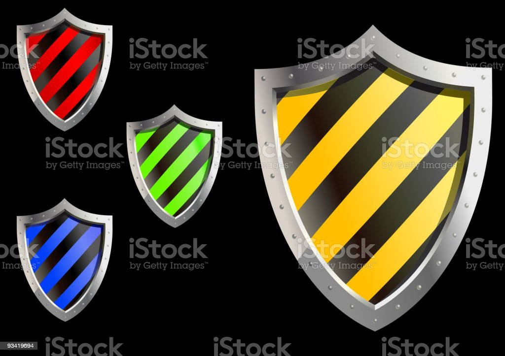 Web security shield royalty-free stock vector art