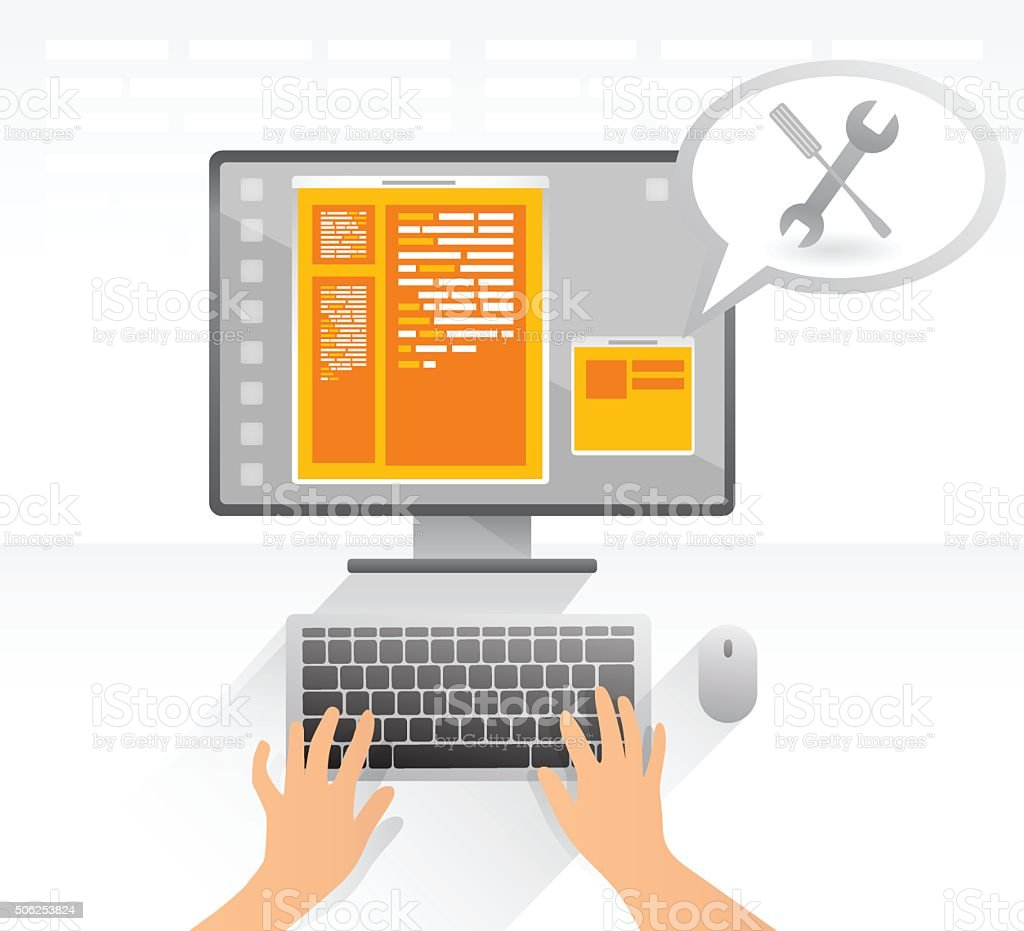 Web security vector art illustration