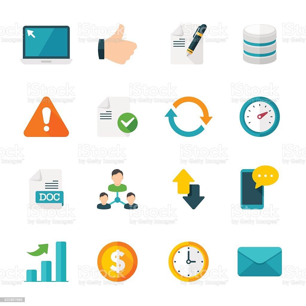 Web Set | Flat Design Icons vector art illustration