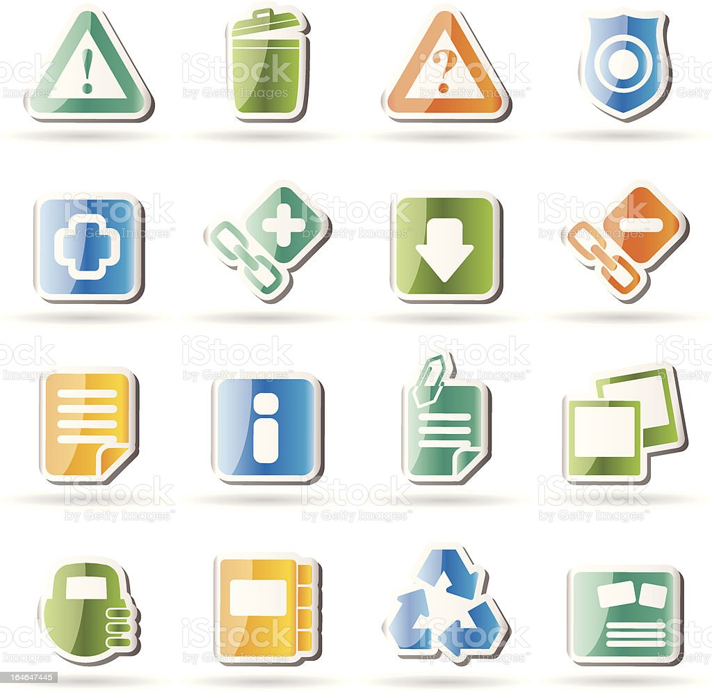 Web site and computer Icons royalty-free stock vector art