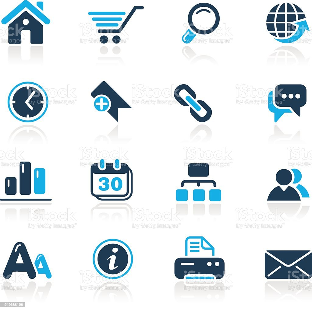 Web Site & Internet Icons // Azure Series vector art illustration