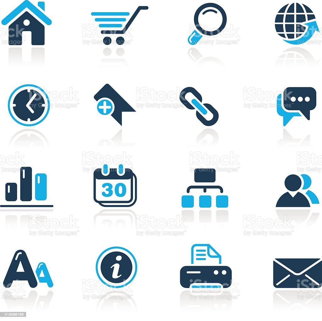 Web Site & Internet Icons // Azure Series vector art illustration