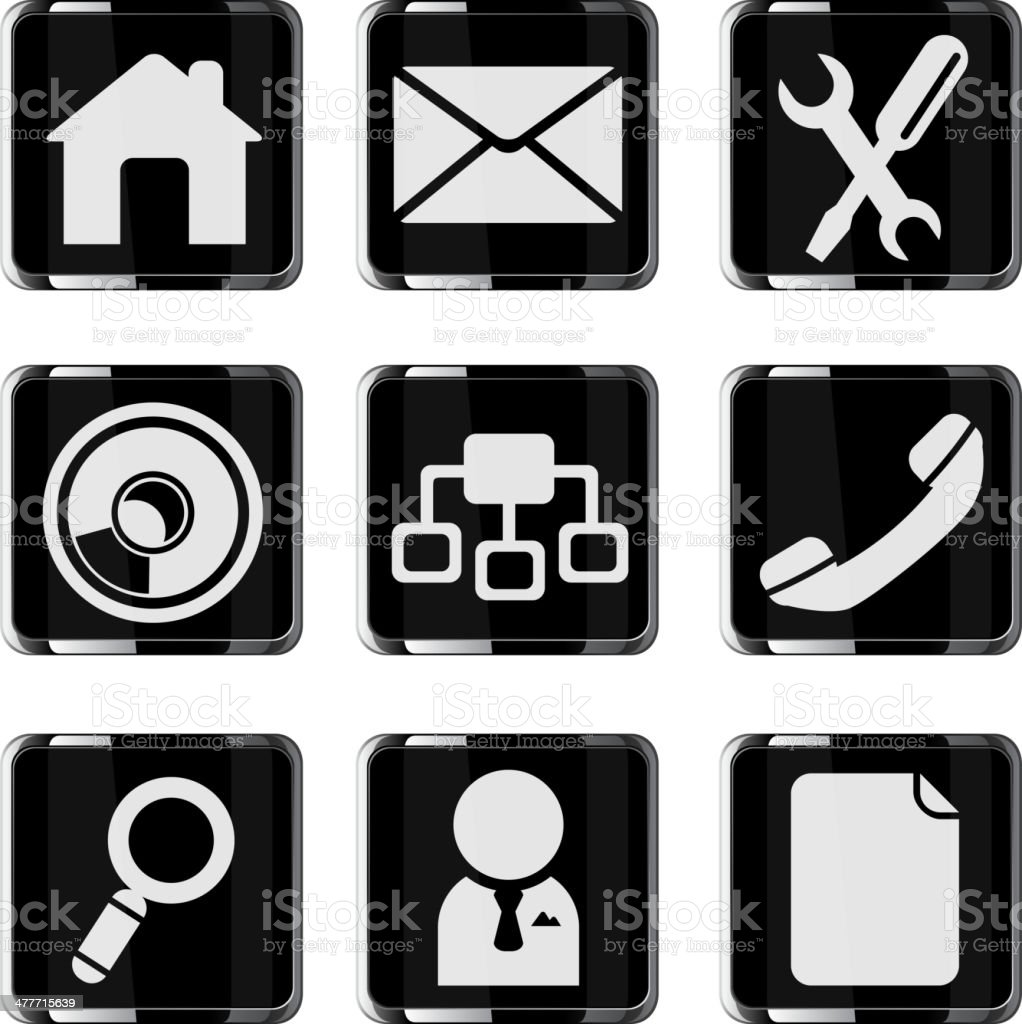 Web site vector glossy icon set royalty-free stock vector art