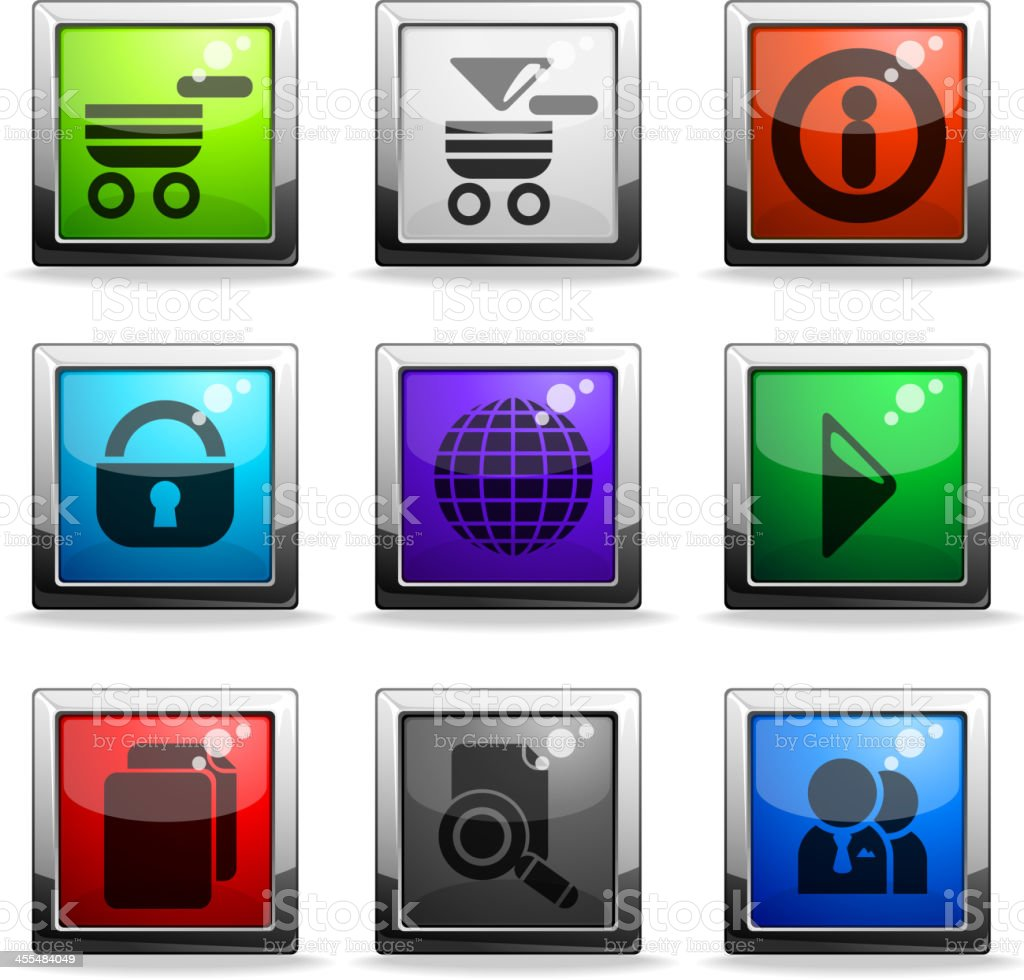 web site vector icon set royalty-free stock vector art
