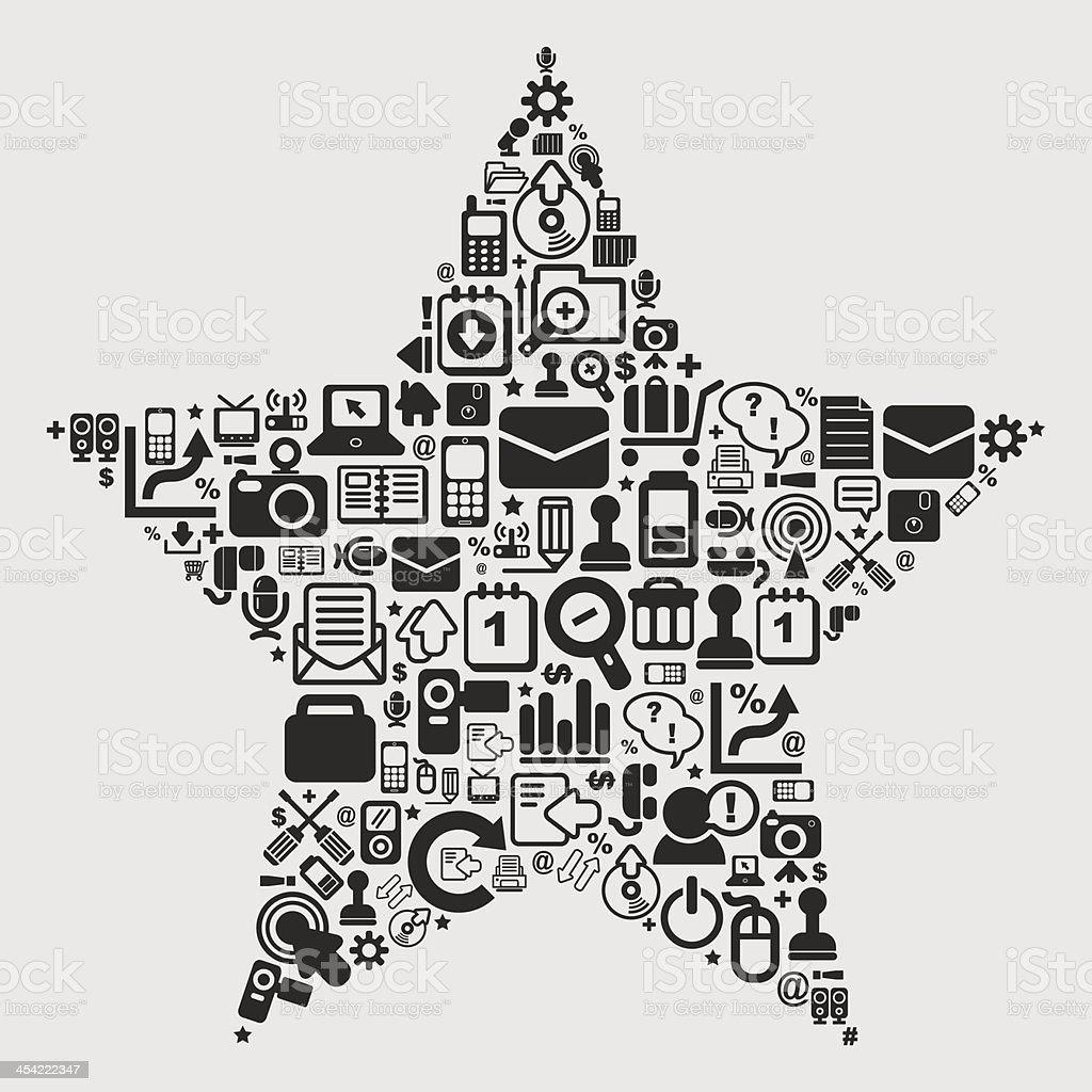 web star pattern royalty-free stock vector art