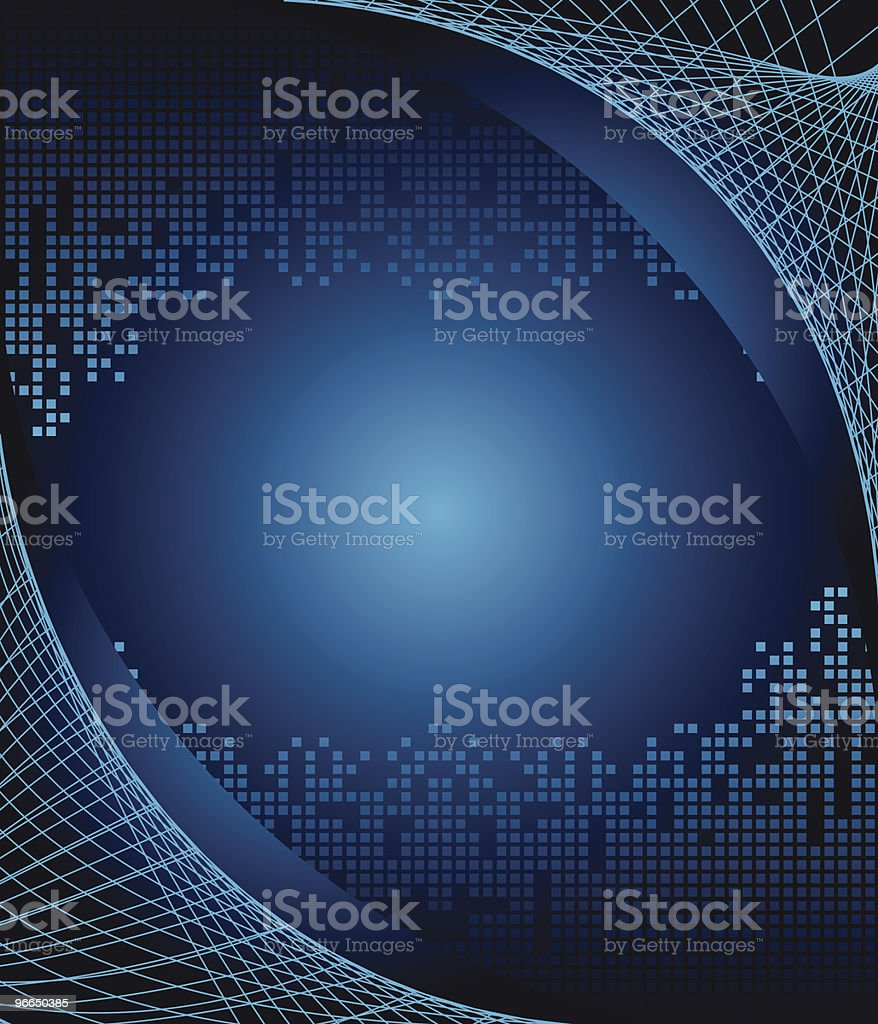 Web surrounding digital world blue background royalty-free stock vector art