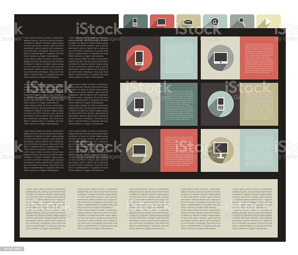 Web template banner. Modern icon collection. vector art illustration