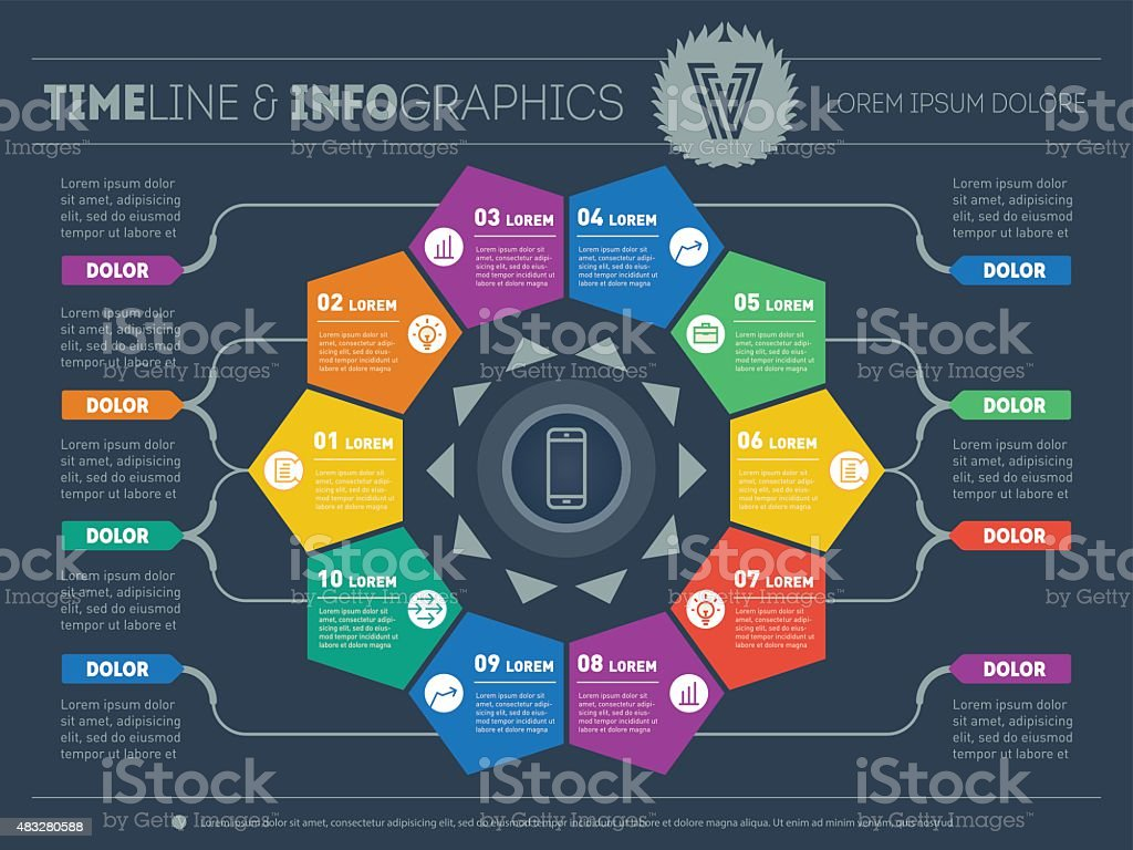 Web Template for circle diagram or presentation. vector art illustration