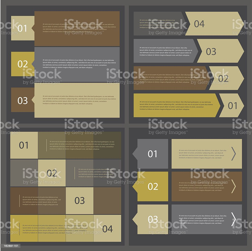 Webdesign banners collection royalty-free stock vector art