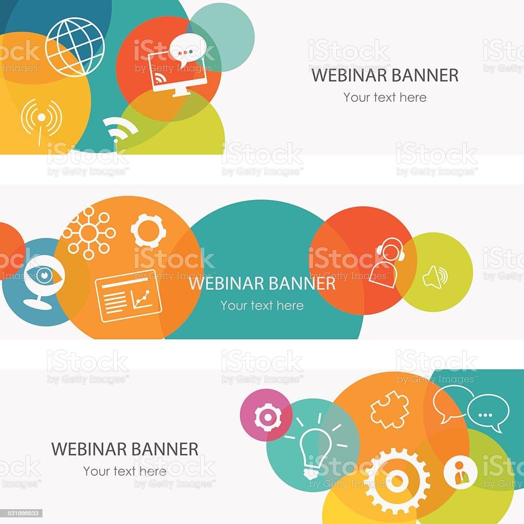 Webinar Banners vector art illustration
