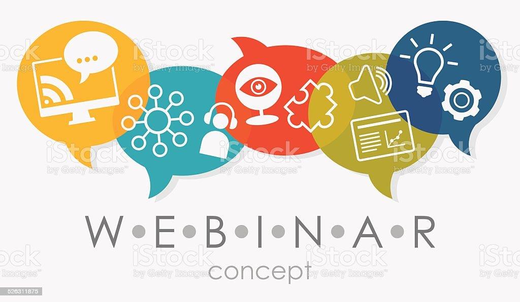 Webinar Concept vector art illustration