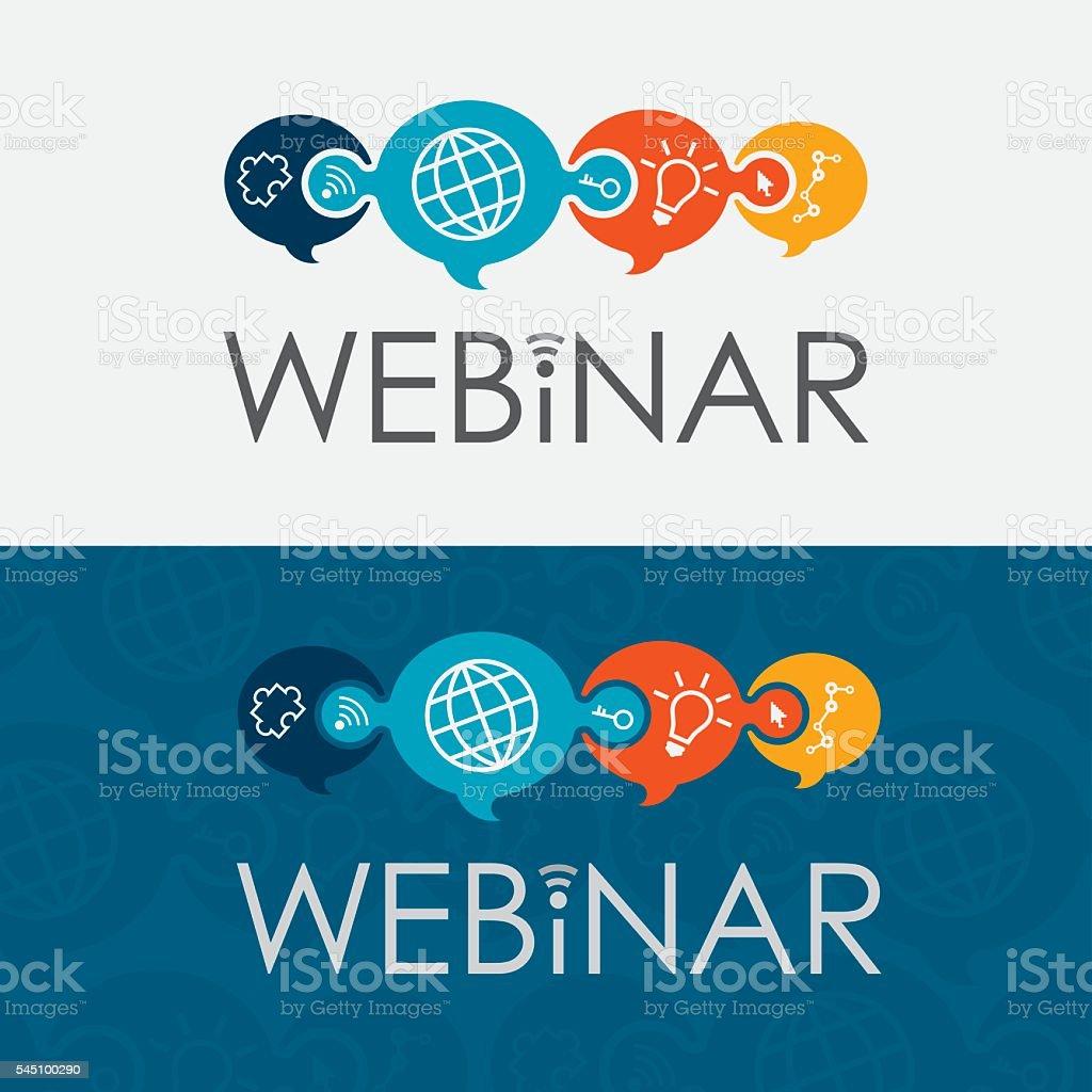 Webinar Logo vector art illustration