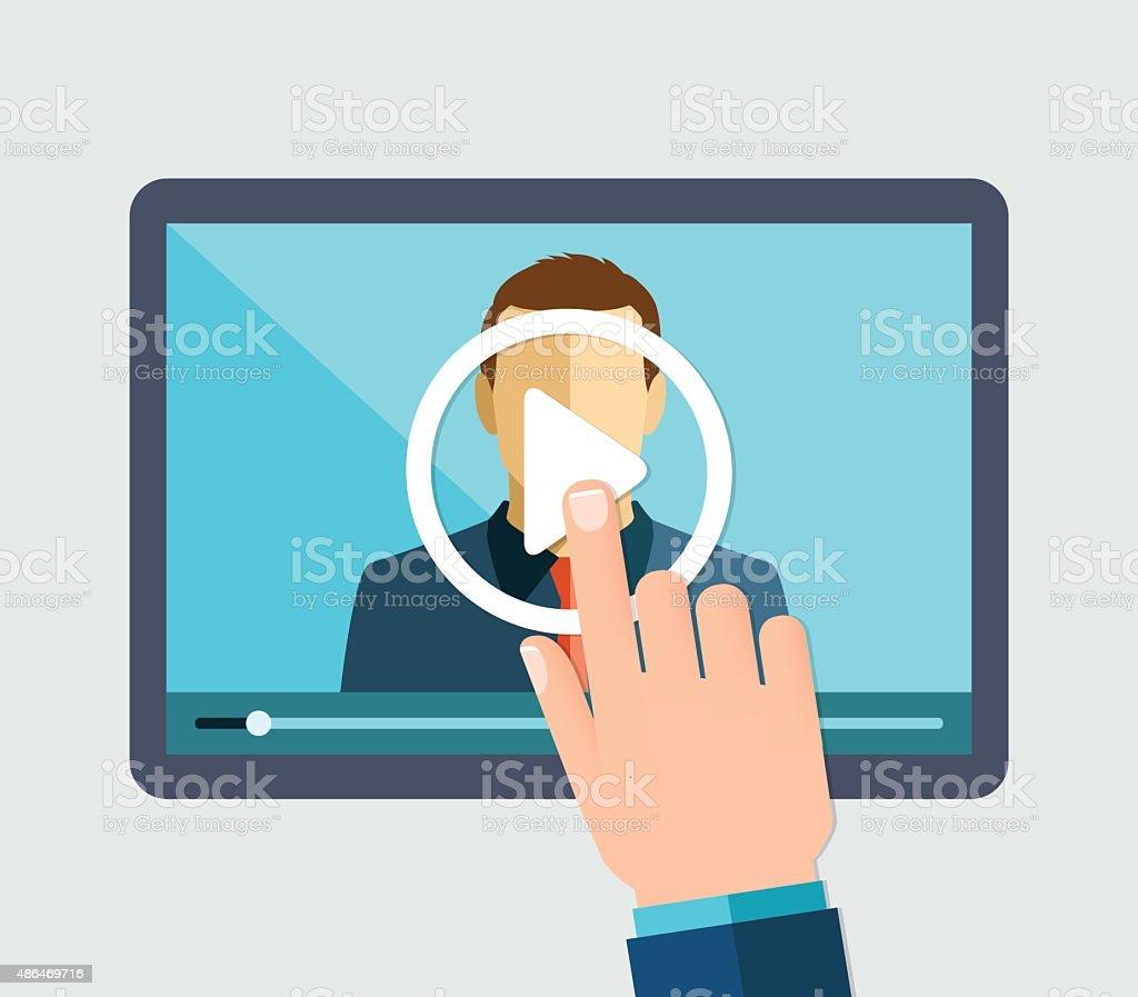 Webinar vector art illustration