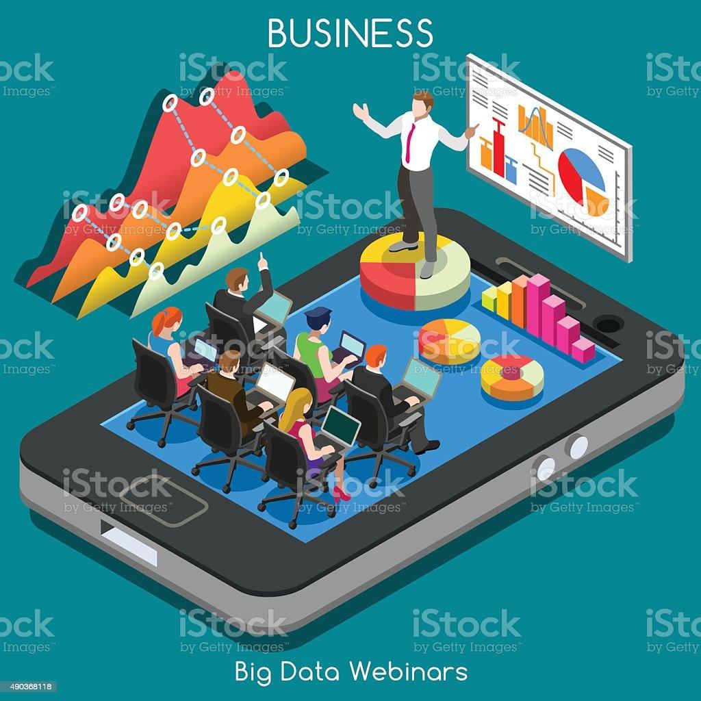 Webinars 02 Business Isometric vector art illustration