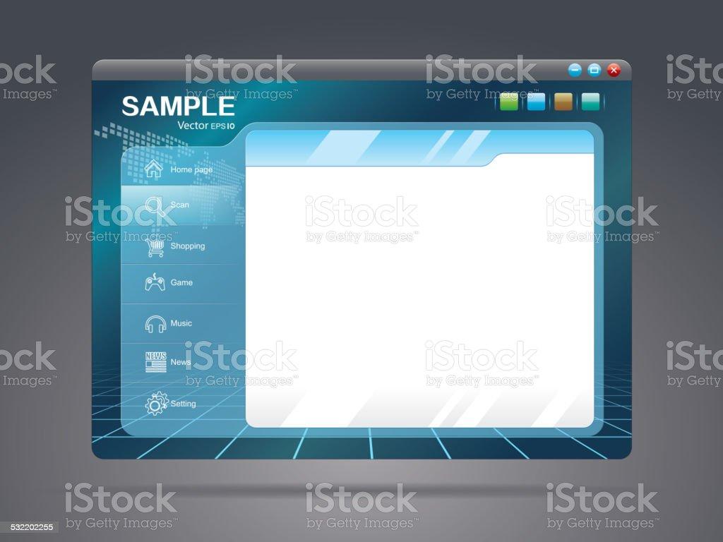 Webpage design vector art illustration