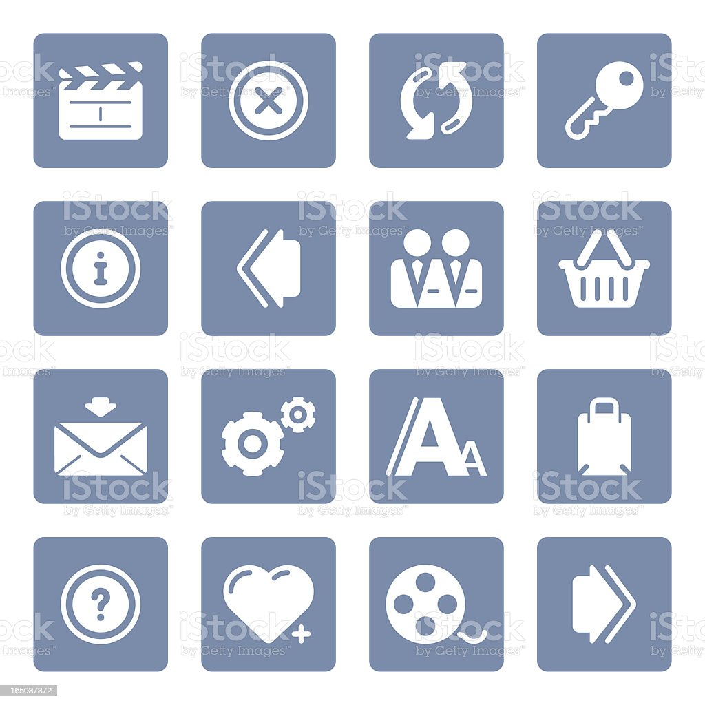 Website & Internet icons   blue series royalty-free stock vector art