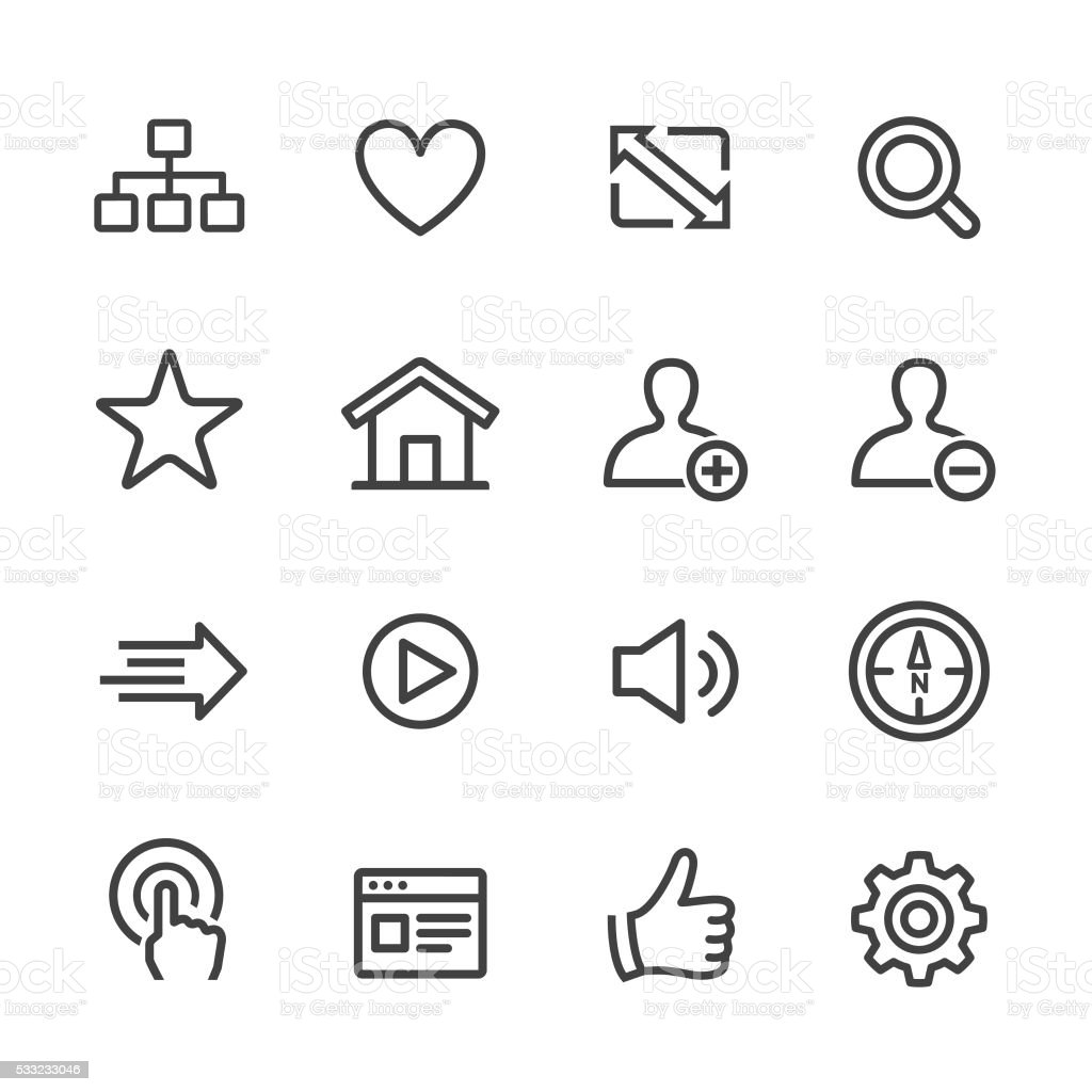 Website and Internet Icons - Line Series vector art illustration