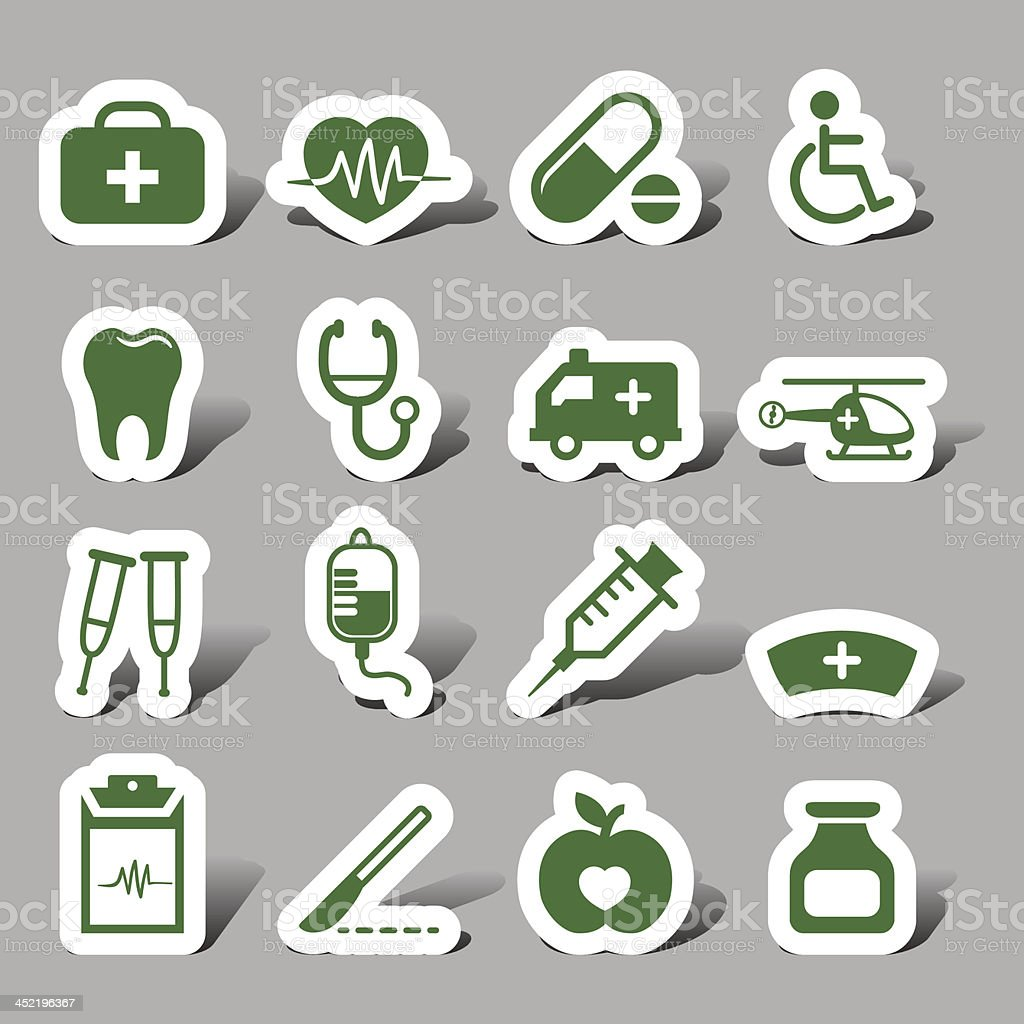 Website and Internet icons - Medical collection vector art illustration
