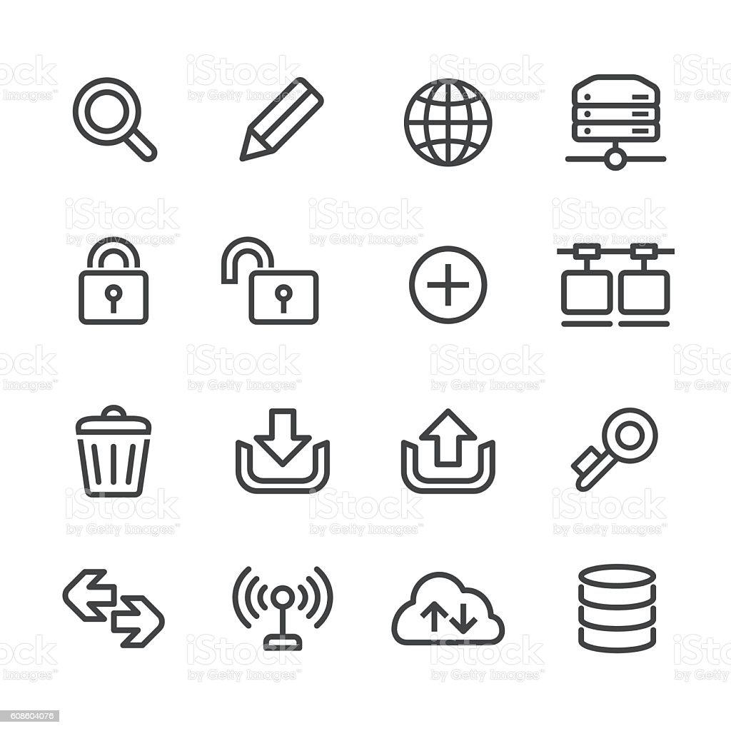 Website and Internet Icons Set - Line Series vector art illustration