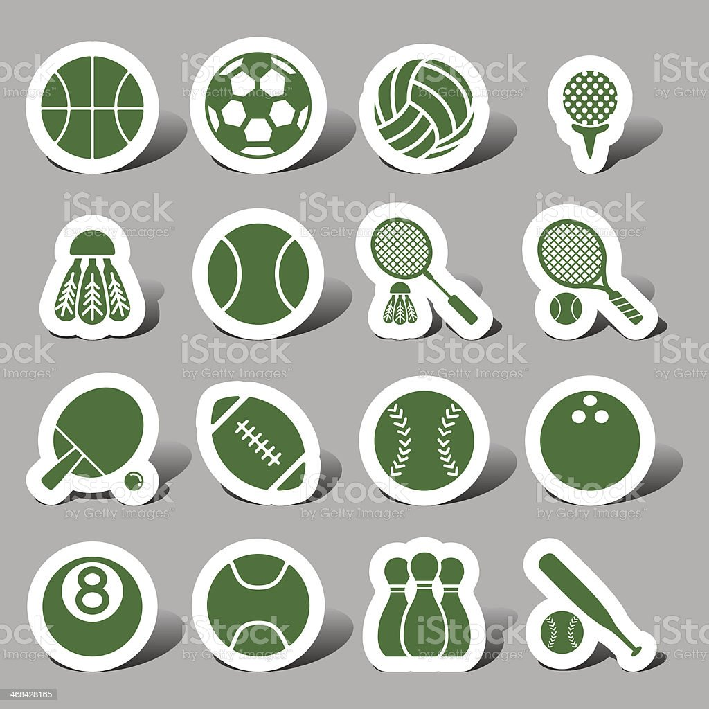 Website and Internet icons - Sports royalty-free stock vector art
