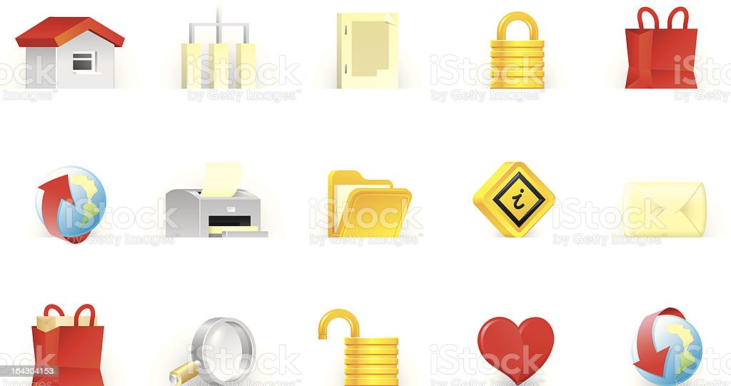 Website and Internet icons | T.U.P.O. Color series royalty-free stock vector art