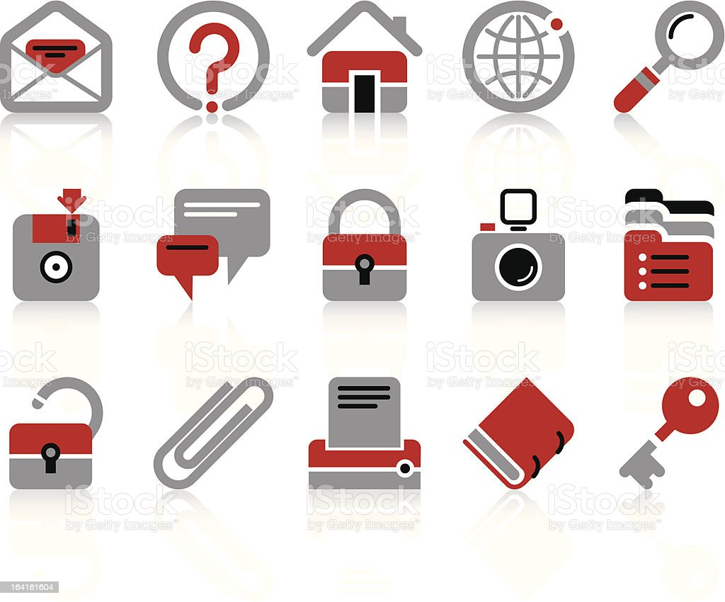Website and internet icons vector art illustration