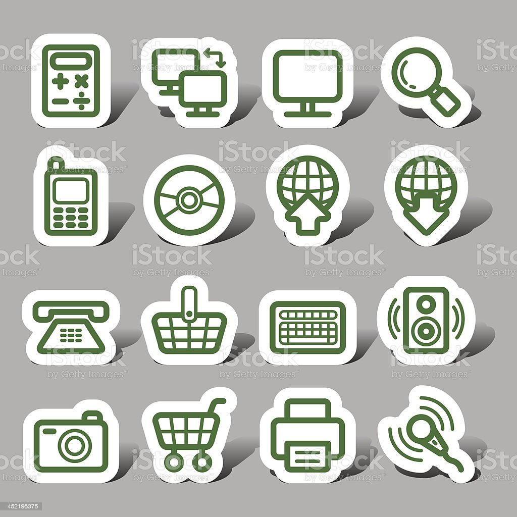 Website and Internet icons royalty-free stock vector art