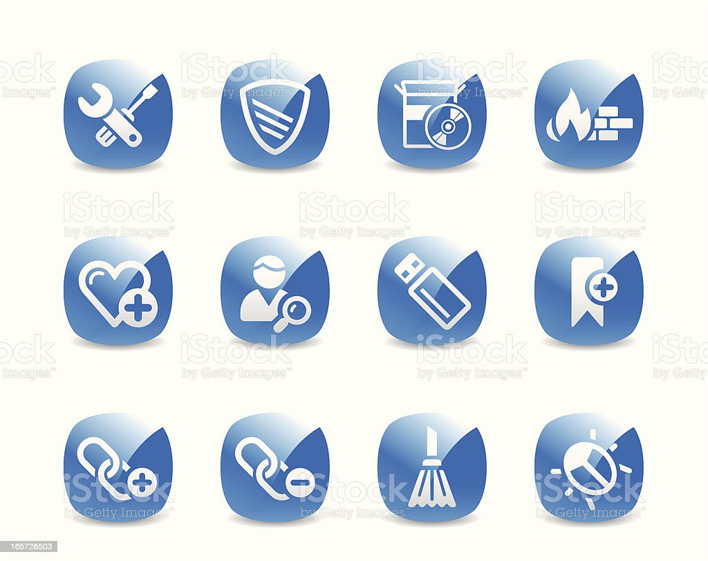Website and Internet Security Icon Set royalty-free stock vector art
