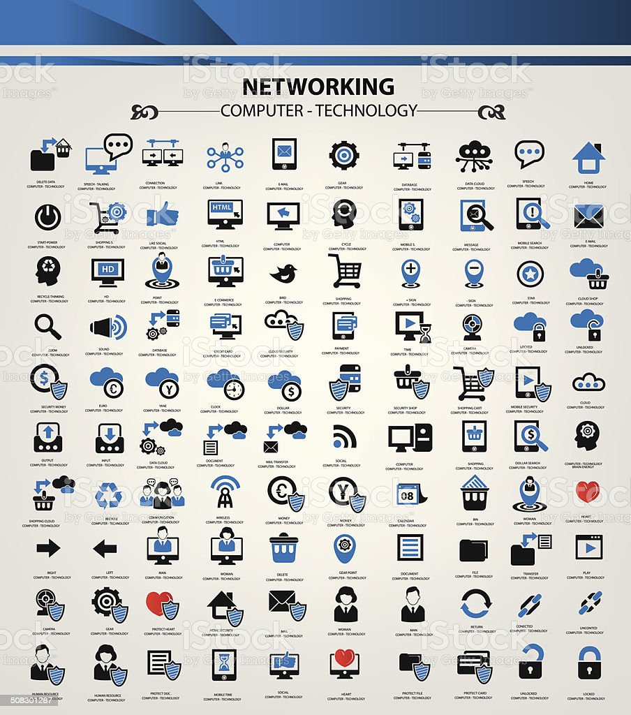 Website and networking icon set,vector vector art illustration