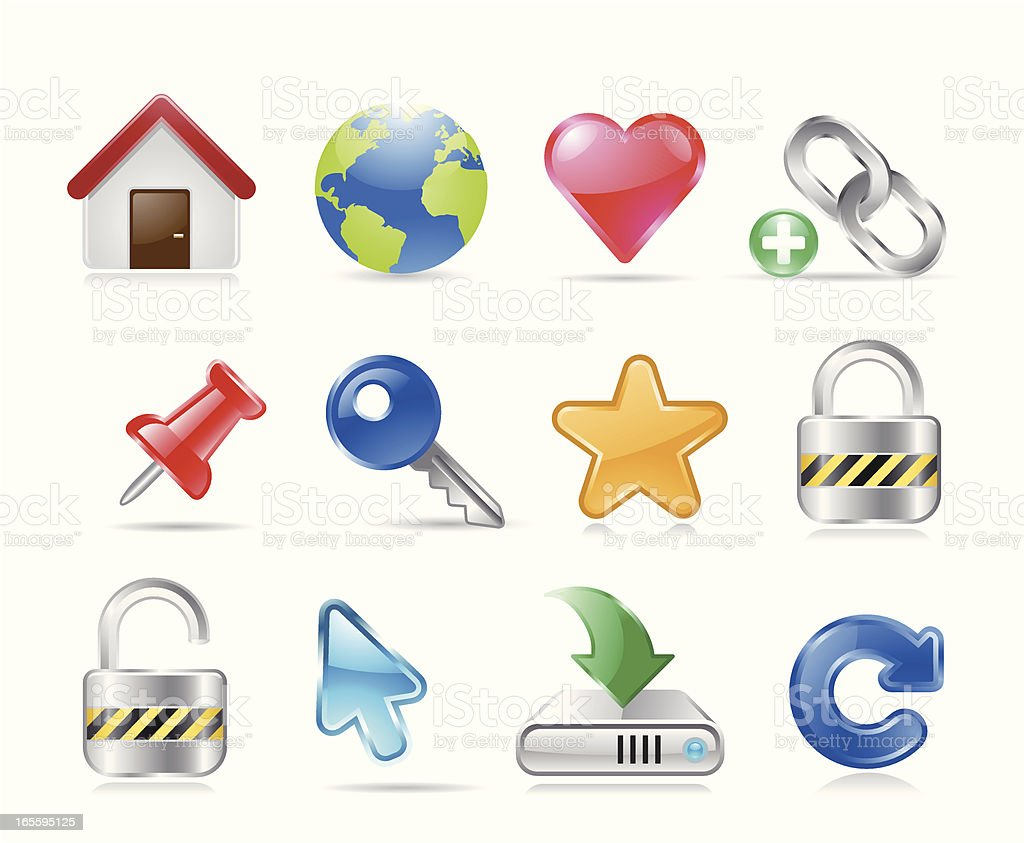 Website and Software Icons royalty-free stock vector art