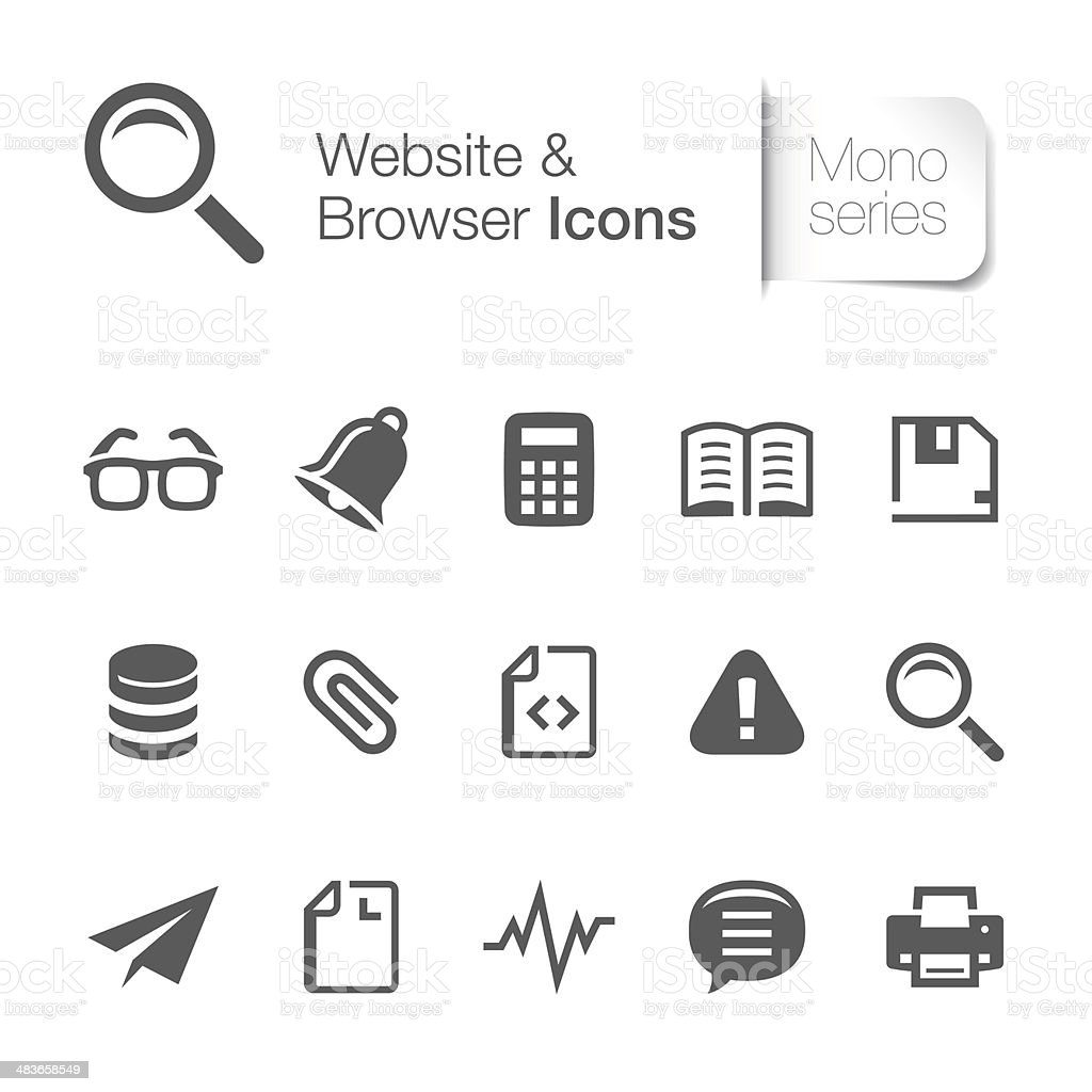 Website & browser related icon vector art illustration