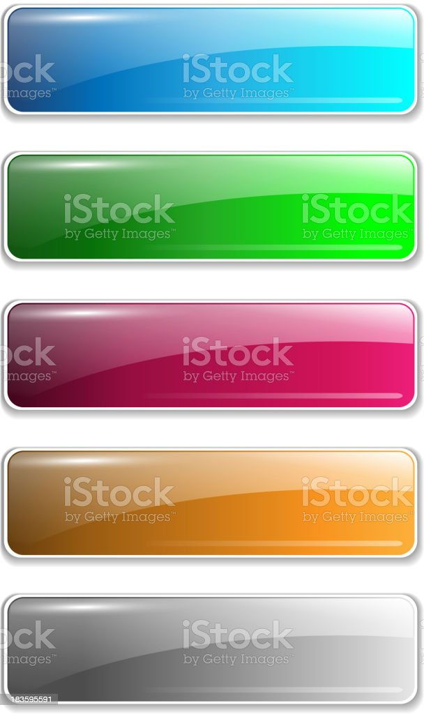 Website buttons royalty-free stock vector art