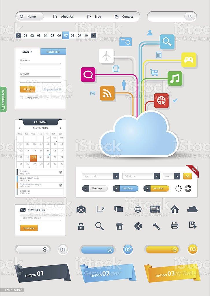 Website Design Pack royalty-free stock vector art