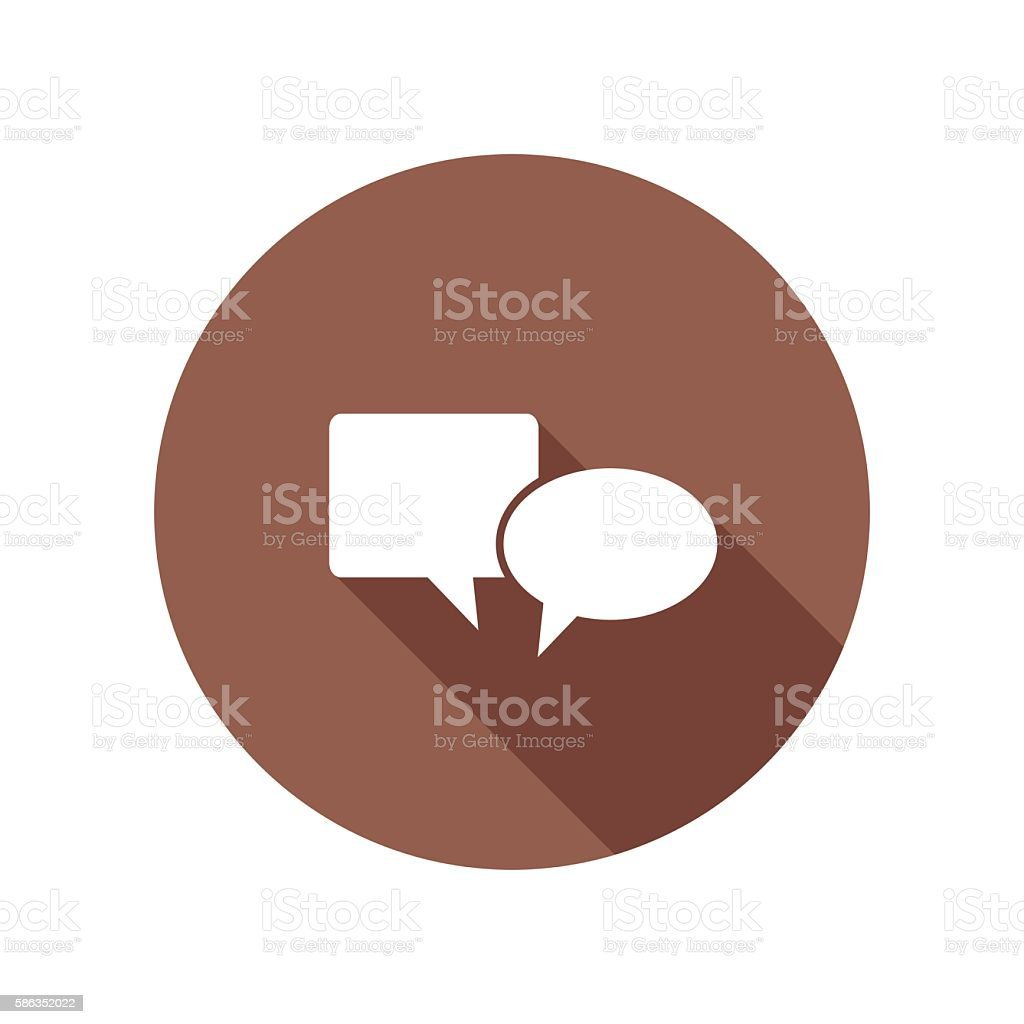 Website Flat Color Long Shadow Icons vector art illustration