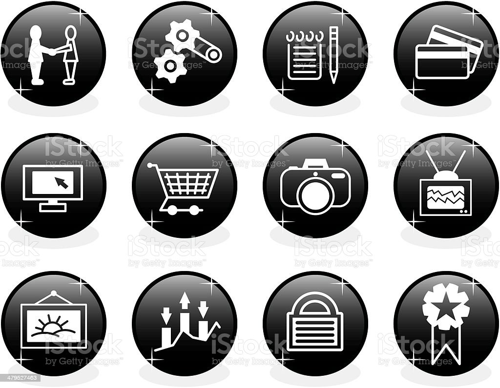 Website icon set royalty-free stock vector art