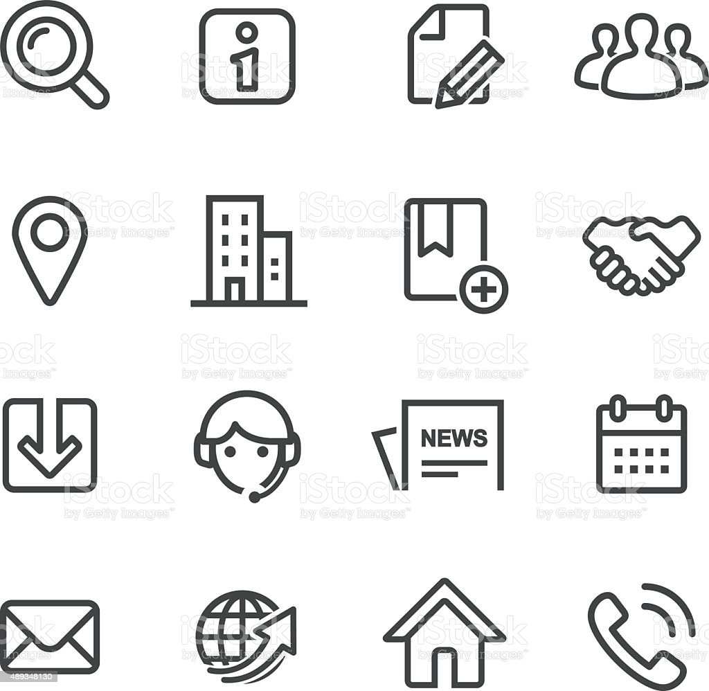 Website Icons - Line Series vector art illustration