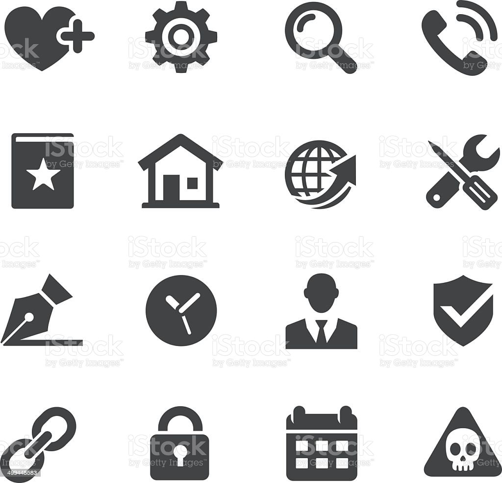 Website Icons Set - Acme Series vector art illustration