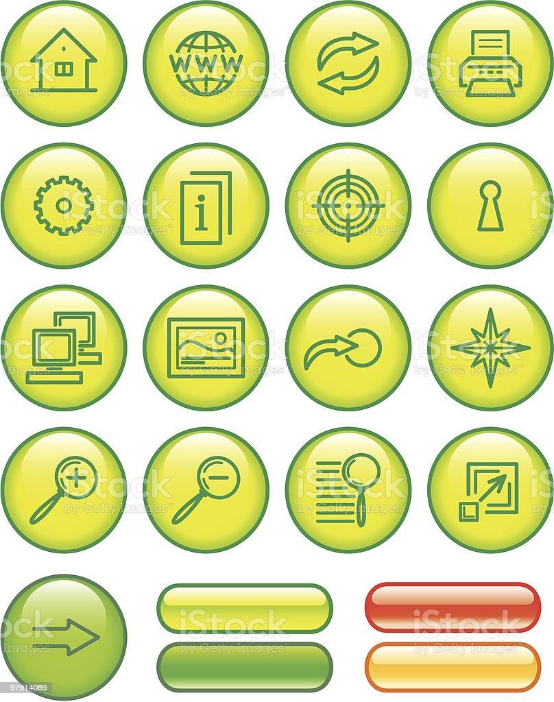 Website Icons Set vector art illustration