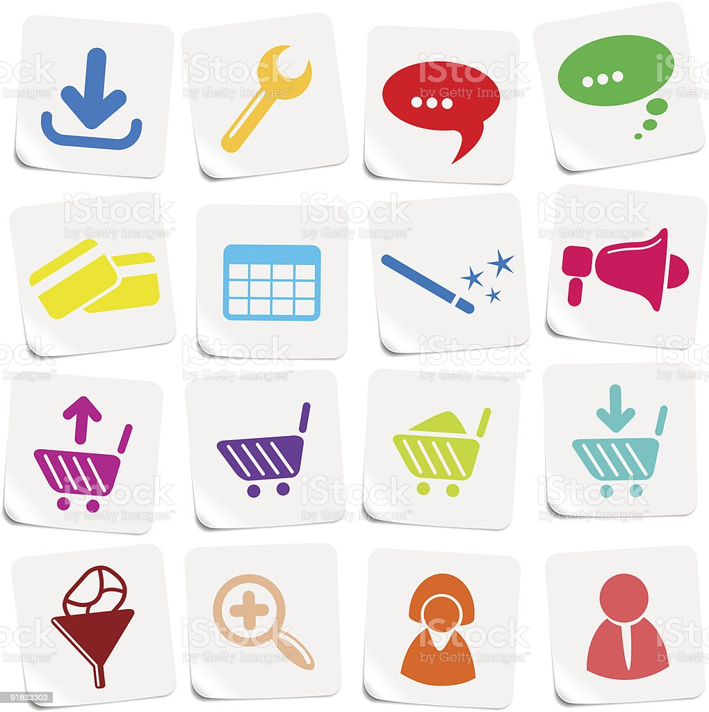 Website icons royalty-free stock vector art