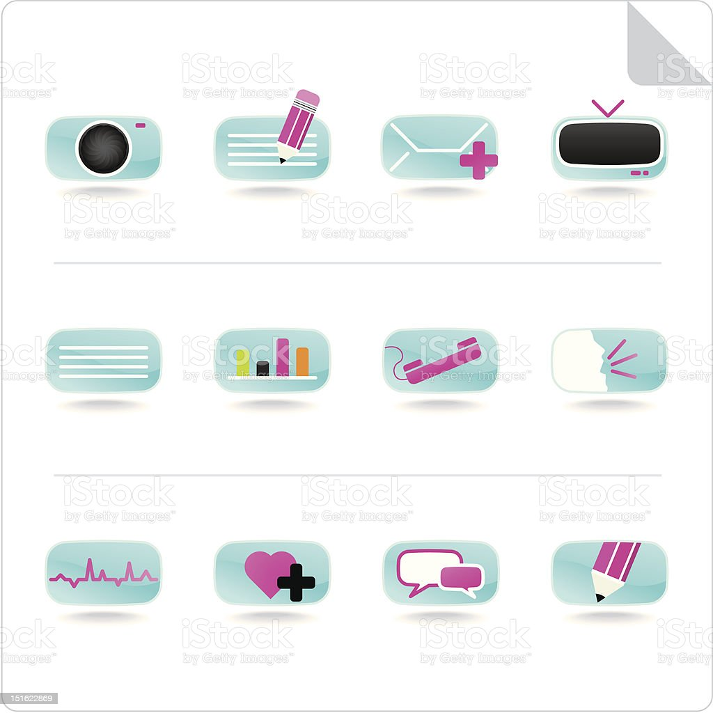 Website Internet Blog - icon set royalty-free stock vector art