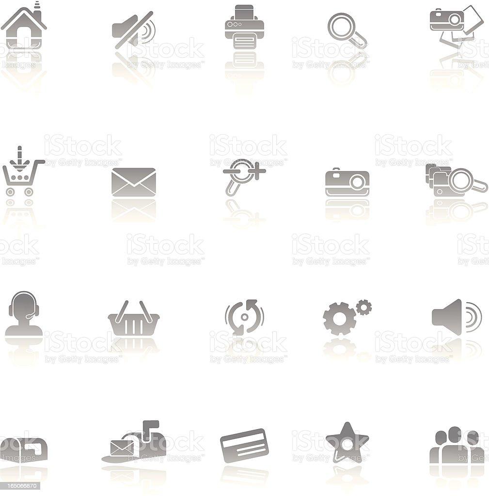 Website & internet icon set royalty-free stock vector art
