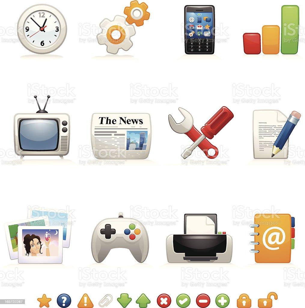 Website & Internet Icons 2 - Curvy Series royalty-free stock vector art