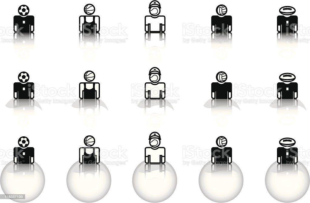 Website & Internet icons – Occupations – sportsmen royalty-free stock vector art