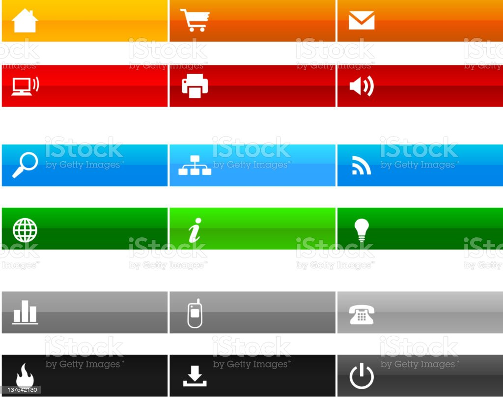 Website navigation royalty-free stock vector art