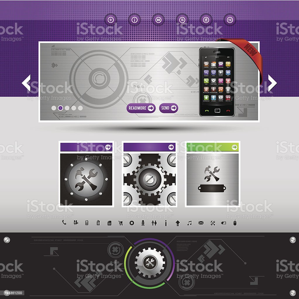 website template royalty-free stock vector art