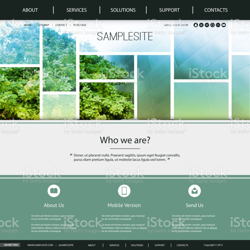Website Template vector art illustration