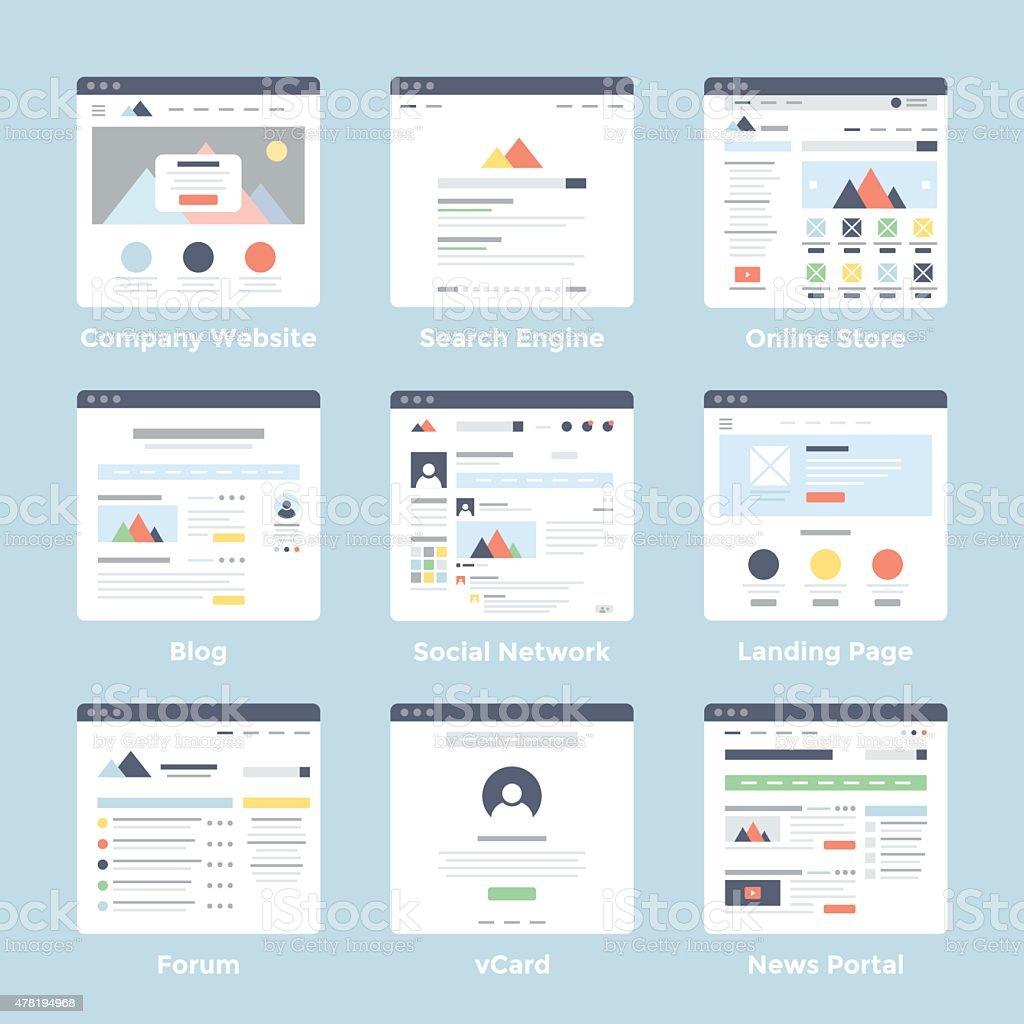 Website Templates vector art illustration
