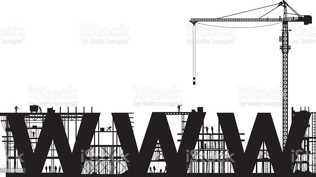 Website Under Construction royalty-free stock vector art
