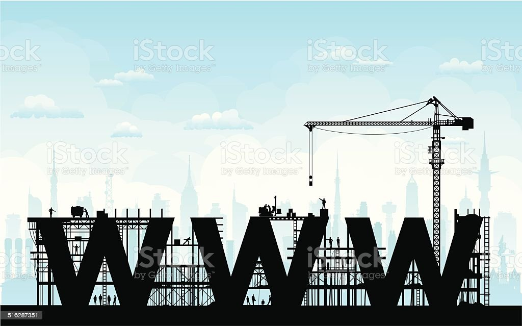 Website Under Construction vector art illustration